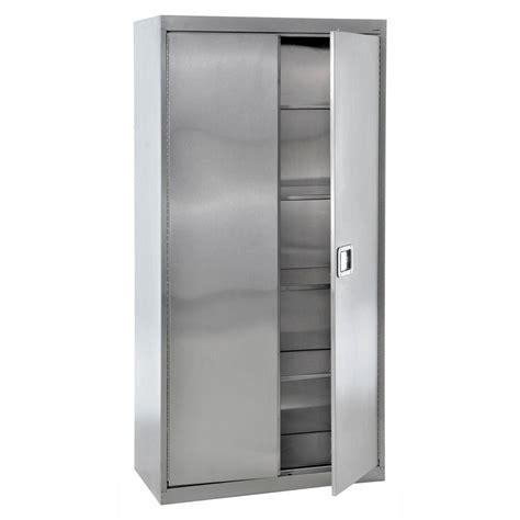 freestanding garage cabinet sandusky 78 in h x 36 in w x 24 in 5 shelf d stainless