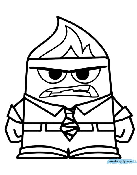 inside out anger coloring page disney pixar inside out coloring pages disney coloring book
