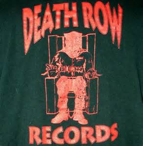 Death row records electric chair dr dre logo t shirt