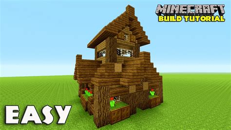 minecraft survival house tutorial minecraft how to build a small survival house tutorial easy survival house