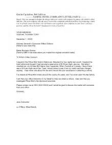 Complaint Letter Answer Hotel Responses To Complaint Letters Templates Format For