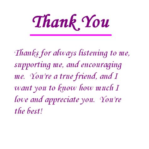 thank you letter to a friend for always being there thank you for always listening to me pictures photos