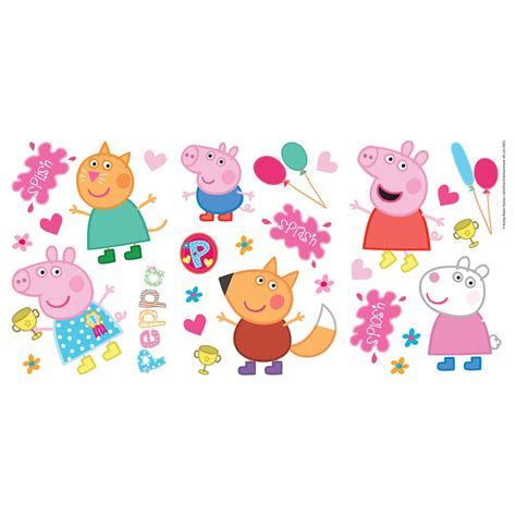 Repositionable Wall Stickers peppa pig 2014 stickers at wilko com