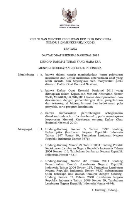Daftar Obat Arv doen kepmenkes 312 2013 daftar obat esensial nasional 2013
