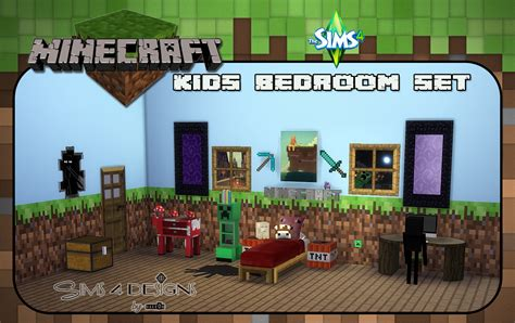 minecraft kids bedroom minecraft kids bedroom set new meshes sims 4 designs