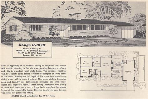 retro ranch house plans vintage house plans 105h antique alter ego
