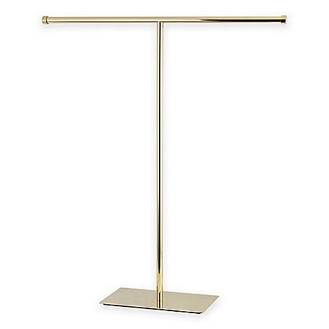 bed bath and beyond towel rack buy kingston brass claremont free standing towel rack in brass from bed bath beyond