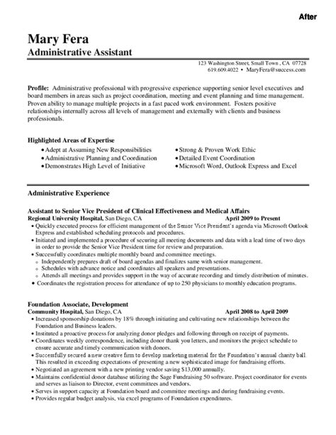 executive assistant resume sles free l r administrative assistant resume 28 images administrative assistant description office