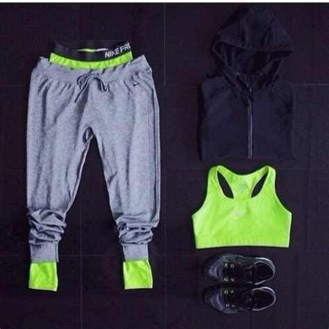 sweatpants lime grey sweater tank