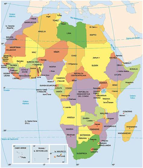 mapa dafrica politic mapas de africa politica