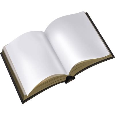 open white book transparent png stickpng