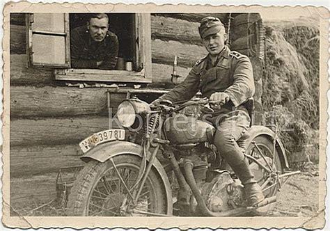 Nsu Motorr Der Bei Ebay by Zwei Soldaten Motorrad Wk2 Kradmelder Nsu 351 Osl Bild
