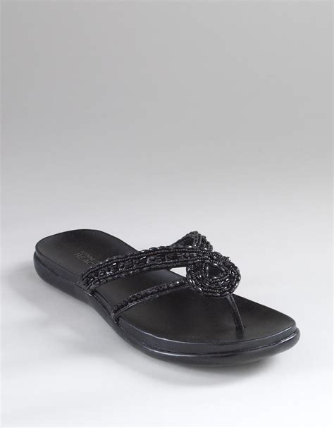 kenneth cole flat shoes kenneth cole reaction glam beaded flat sandals in