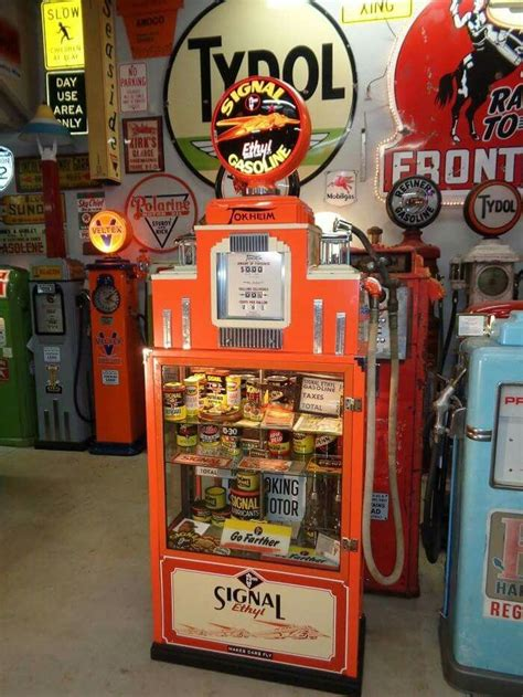 gas pump display cabinet signal gasoline tokheim display case gas pump gas globes