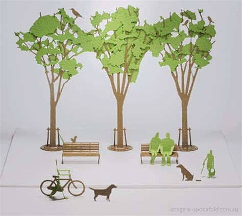 How To Make Model Trees From Paper - i mondi di carta di upon a fold it themag