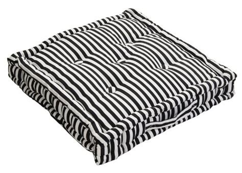 black and white bench cushion homescapes pin stripe black 100 cotton floor