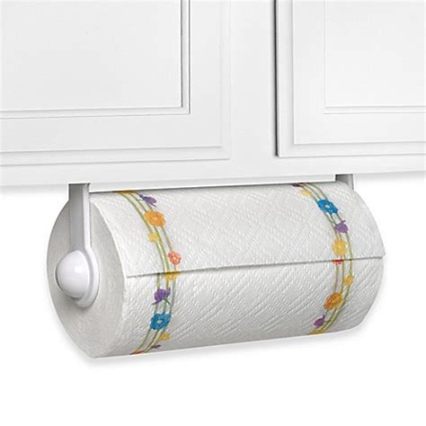 under cabinet mount paper towel holder buy white paper towel holder with mount from bed bath beyond