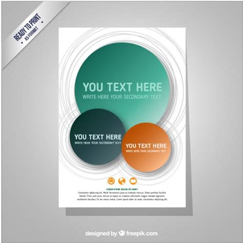 brochure template with circles vector free download