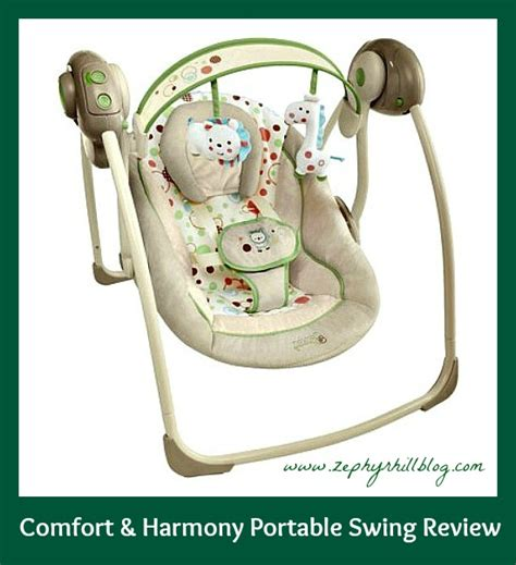 comfort harmony portable swing comfort harmony portable swing review zephyr hill