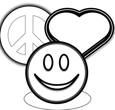 clipartist net 187 clip art 187 peace love and happyness black
