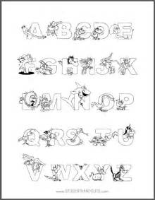 Animal alphabet coloring sheets everyletter of the alphabet has an