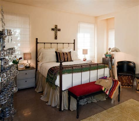 southwestern bedroom santa fe style guest suite interior design by jennifer