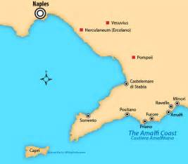 Map Of Italy Amalfi Coast by Amalfi Coast Italy Map And Guide To Top Towns To Visit