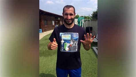 Topi Juventus Scudetto 34 Limited children s s exclusive giorgio chiellini shirt