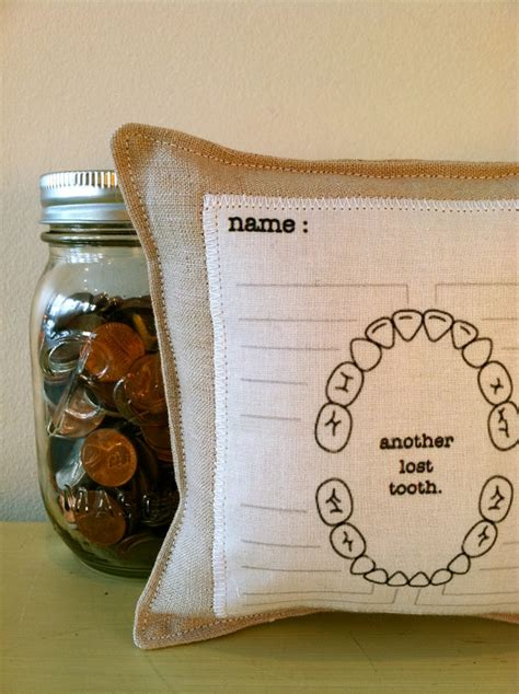 Handmade Tooth Pillows - tooth pillow with chart 1 pillow handmade by of