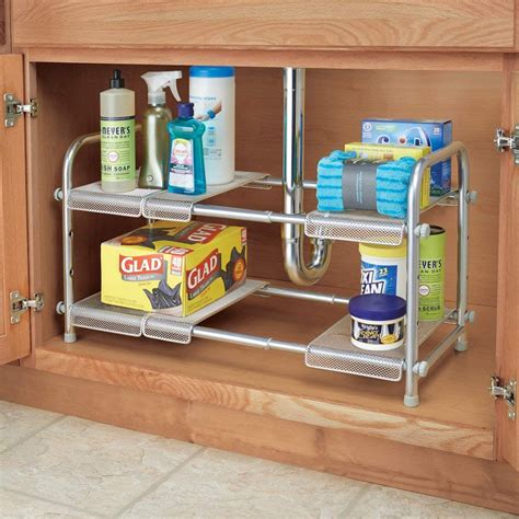 The Sink Organizers by Expandable Sink Organizer Silver In Sink