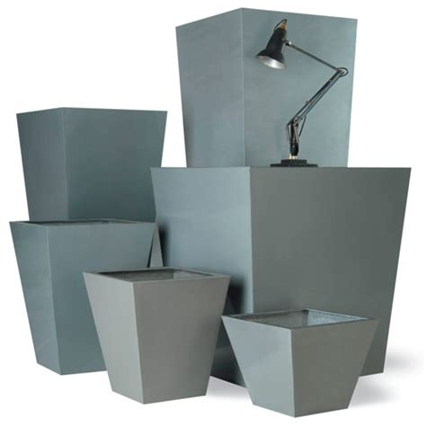 planter fiberglass resin geo tapered square