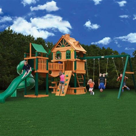 woodbridge swing set gorilla playsets woodbridge cedar play set 01 1015 at the
