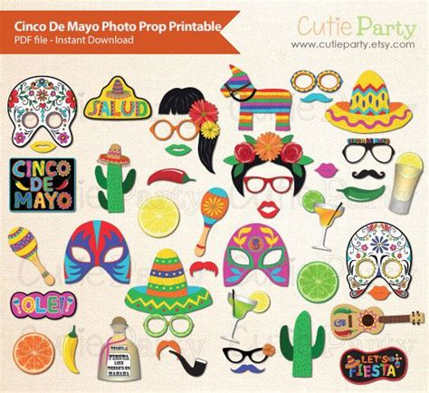free printable photo booth props mexican cinco de mayo photo booth prop mexican fiesta photo booth