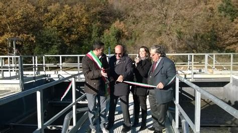 acquedotto fiora spa taglio nastro per il nuovo impianto per il trattamento