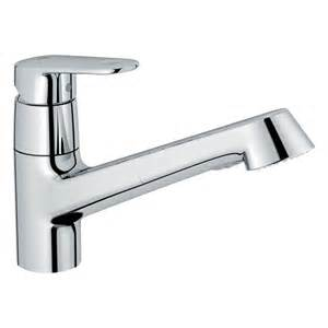 Grohe Kitchen Faucets Lowes Shop Grohe Europlus Starlight Chrome 1 Handle Pull Out Kitchen Faucet At Lowes