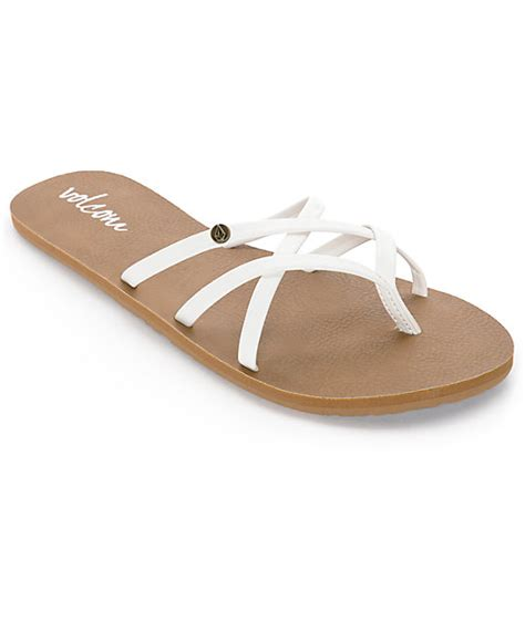 volcom new school sandals volcom new school white sandals at zumiez pdp