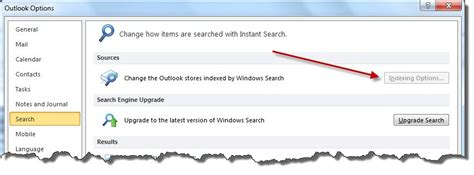 Windows Search Email Indexer Disabled Enable Outlook 2010 Search And Indexing On Windows 7 Bruceb News