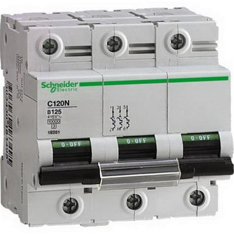 Mcb C120n Mini Circuit Breaker Schneider Acti9 3p 80a 3x80a mcb c100n acti9 3p 100a c 10ka breaker minature circuit