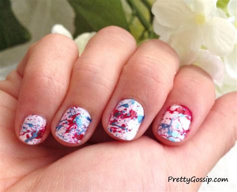 easy nail paint how to splatter paint nails pretty gossip