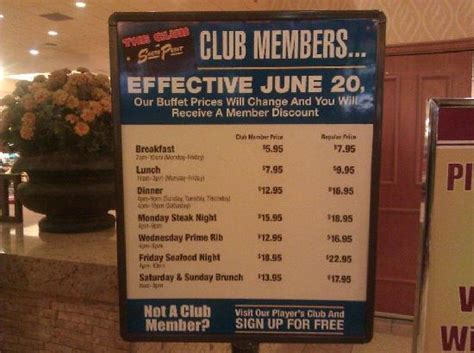 Buffet Prices See Lower Price With Player Cards Its Free Cost Of Buffets In Vegas
