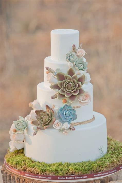 Wedding Cake With Succulents by 35 Succulent Wedding Ideas For Your Big Day Tulle