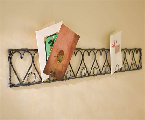 decorative heart design christmas card holder cosy