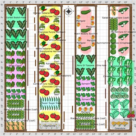 How To Layout A Garden Garden Plan 2013 20x20 Garden