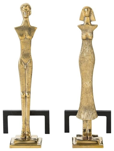 Fireplace Andirons And Grates by Arteriors Kato Andirons Set Of 2 Traditional Fireplace