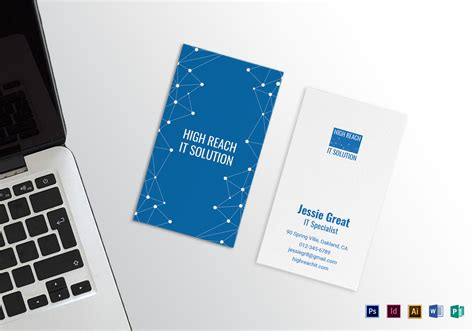 Photoshop Business Card Templates Technology by Information Technology Business Card Design Template In