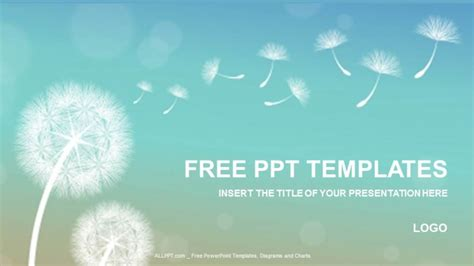 dandelion nature powerpoint templates download free