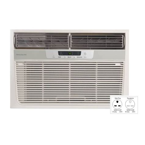lowes room air conditioner shop frigidaire 18 500 btu 1 170 sq ft 230 volt window air conditioner with heater at lowes