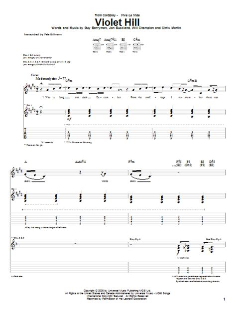 coldplay violet hill chords violet hill by coldplay guitar tab guitar instructor
