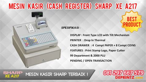 Mesin Kasir Sharp Xe A217 jual pos mesin kasir mesin drawer mesin