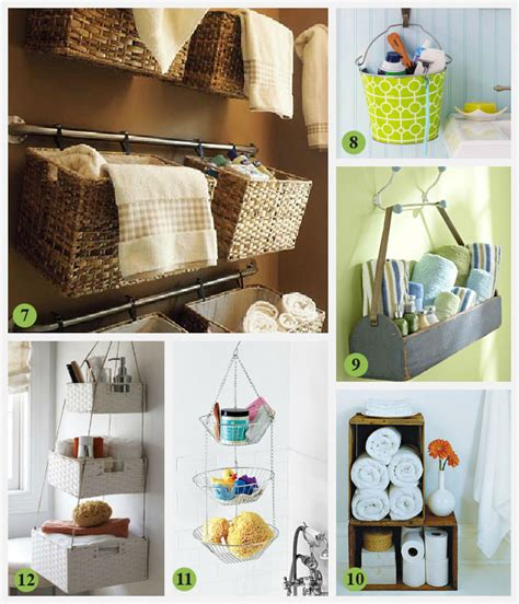unique storage creative storage idea for a small bathroom interior decorating accessories